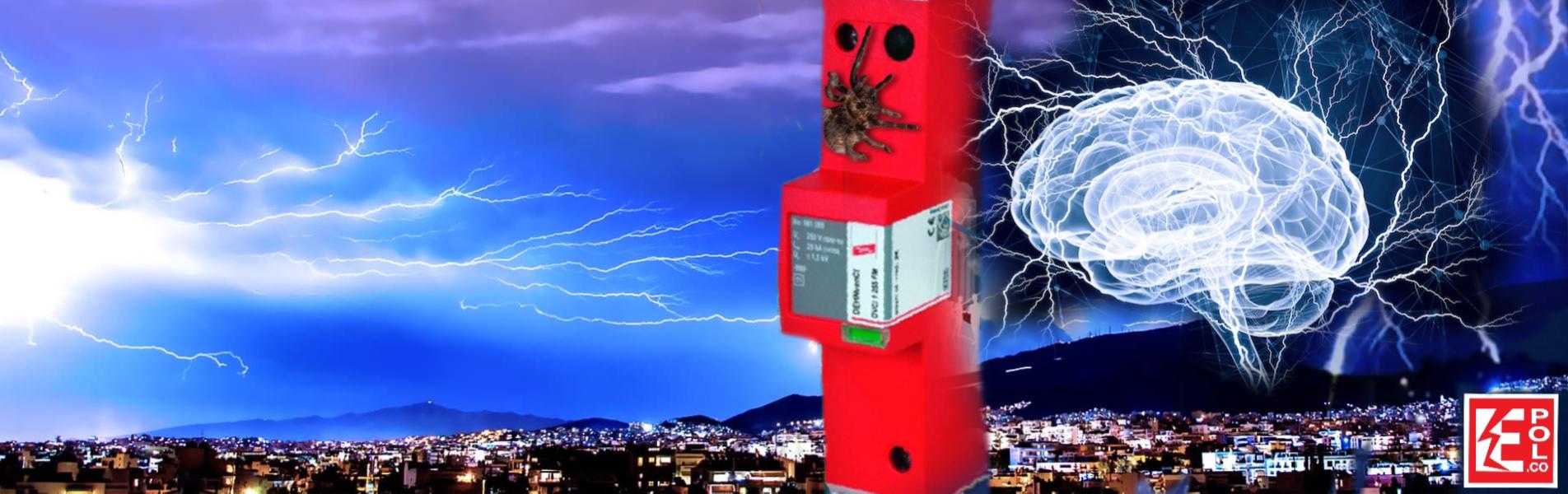Pararrayos con DPS supresor eléctrico